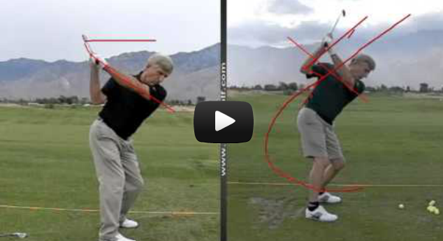 Golf lessons with video swing analysis.